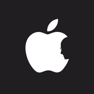 Logo diseñado por un estudiante japonés con motivo de la muerte de Steve Jobs. width=292